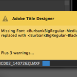 Adobe Premiere missing fonts